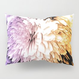 Mums abstract with shades of purple and gold Pillow Sham