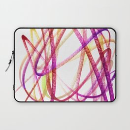 Edgy Expressive Marker Warm Colors Abstract Laptop Sleeve