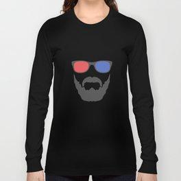 3D beard Long Sleeve T-shirt