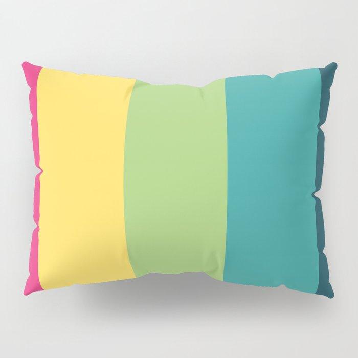 Yoshitaka - Multicolor 80s Retro Stripes Pillow Sham