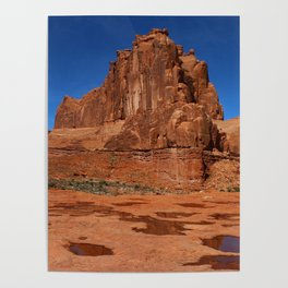 Red Rockformation in Arches NP Poster