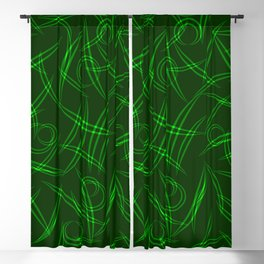 Abstract green tree branches, stalks and leaves for spring and summer mood. Blackout Curtain