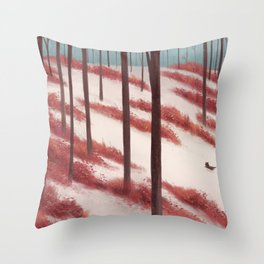 In Snow Throw Pillow
