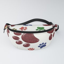 Paw Prints of Glitter - Rainbow Colours Fanny Pack