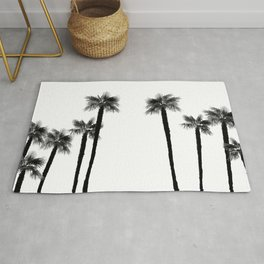 Minimal Black & White Palms #1 #tropical #decor #art #society6 Rug