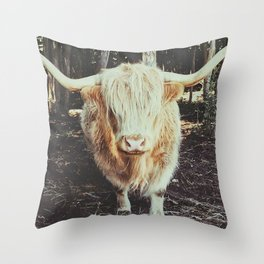 Bos Grunniens Throw Pillow