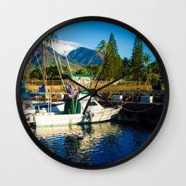 Lahaina Harbour Marina Maui Hawaii Wall Clock