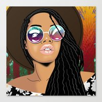 coachella Canvas Prints featuring Coachella Chic by Mark Baker-Sanchez