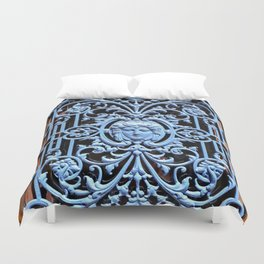 Colorful Door in Colmar France Duvet Cover