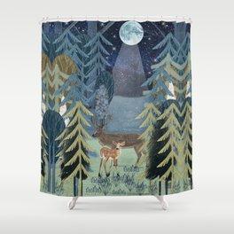 the secret forest Shower Curtain