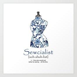 Sewcialist Art Print