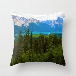 Bald Hills Hike in Jasper National Park, Canada Throw Pillow