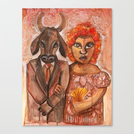 The Marriage of the Bull Canvas Print