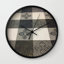 Black and white picnic Wall Clock