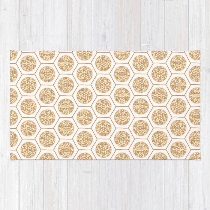 Hex Pattern 72 - Mandarine Rug