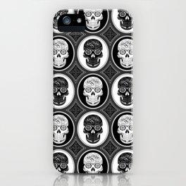 Skulls Calaveras Day of the Dead Dia de los Muertos iPhone Case