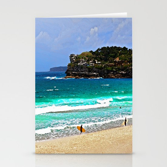 Bondi Surfers Stationery Cards