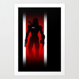 Commander Shepard of the Normandy Art Print