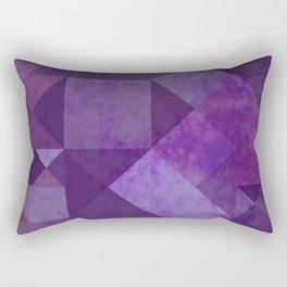 Purple Squares Rectangular Pillow