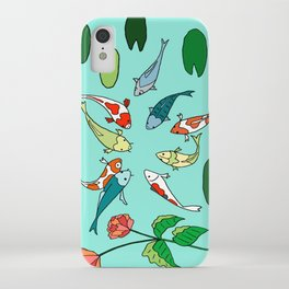 Koi Fish Meeting iPhone Case