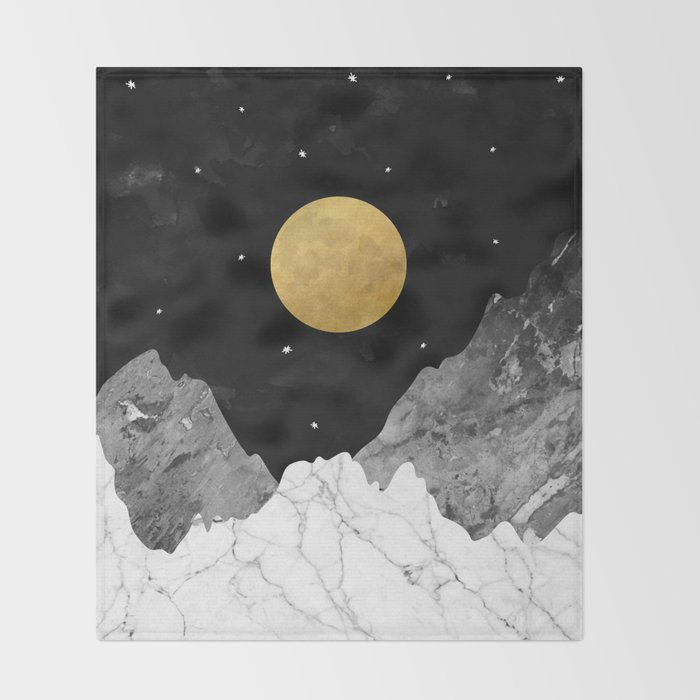Moon and Stars Throw Blanket