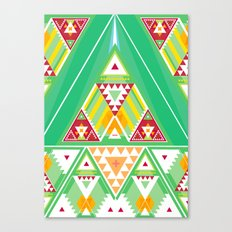 Triangle Indigenous Pattern Canvas Print