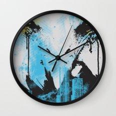 Eagle Eye Watching - Blue Wall Clock