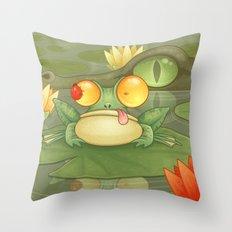 Swamp Snack Throw Pillow