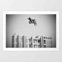 Kenny Over Odaiba, FMX Japan Art Print