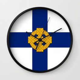 Church in Wales flag united kingdom british symbol Wall Clock