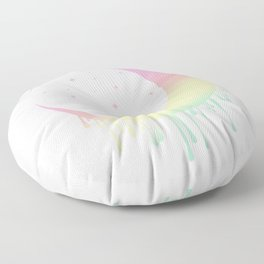 Pastel Rainbow Moon Floor Pillow