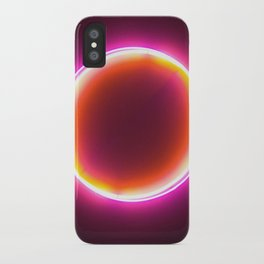 Neon Circle iPhone Case