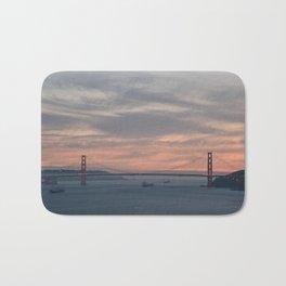 Golden Gate Bridge at Sunset Bath Mat