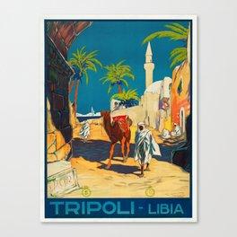 Vintage poster - Tripoli Canvas Print