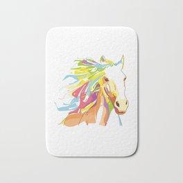 Horse Colorful Variation Bath Mat