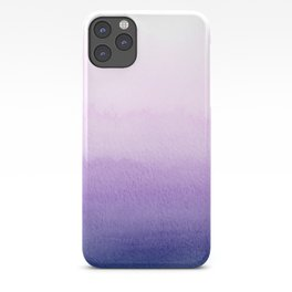 Purple Watercolor Design iPhone Case