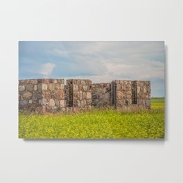 Stone Foundation, North Dakota 3 Metal Print