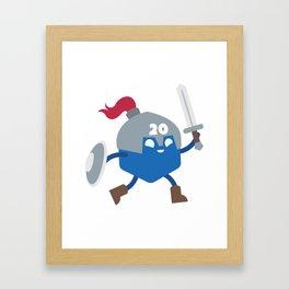 20 Sided Hero Framed Art Print