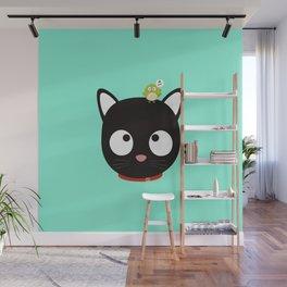 Bird and Cat best Friends T-Shirt Dh5ik Wall Mural