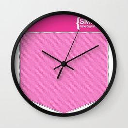 Faux Pocket Tee Wall Clock