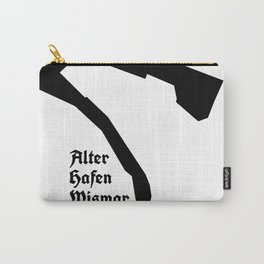 Alter Hafen Wismar– Black on White II Carry-All Pouch