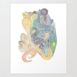 Drawing #11 Art Print