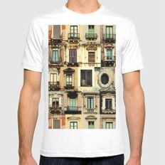 windows MEDIUM White Mens Fitted Tee