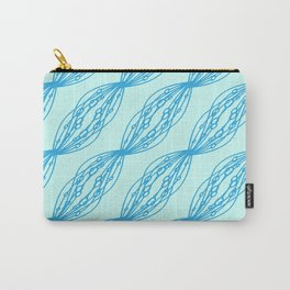 Blue molecular helix on a celestial background. Carry-All Pouch