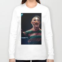 freddy krueger Long Sleeve T-shirts featuring Freddy Krueger by TJAguilar Photos