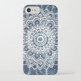 Pleasure White On Blue Marble iPhone Case