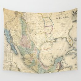Vintage Map of Mexico (1847) Wall Tapestry