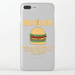 BBQ, barbecue, beef, buns, burger, cheese, cheeseburger, dinner, fast food, food, grill, hamburger,  Clear iPhone Case