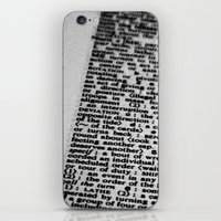 letters iPhone & iPod Skins featuring letters by dearforlorn