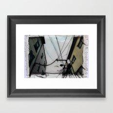 Wires in North Beach San Francisco Framed Art Print